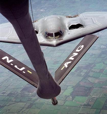 隐形飞机上反射回来的