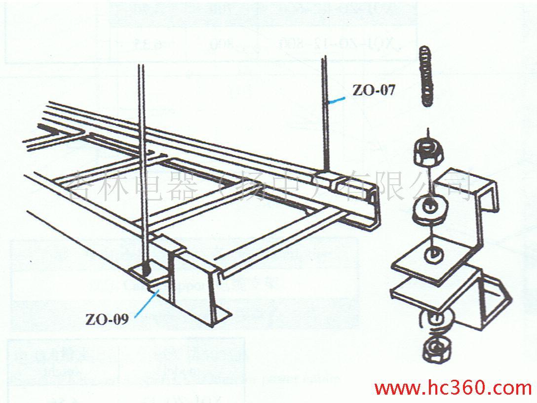 桥架支架图片图片大全 电缆桥架支架及桥架安装实例